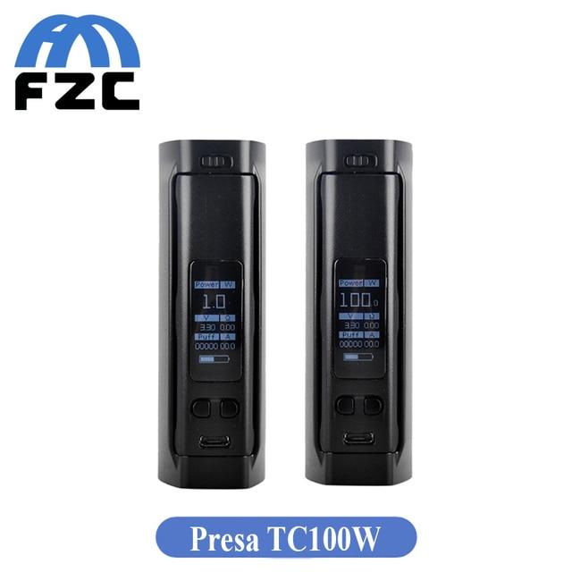 Original Wismec Presa TC 100W Temperature Control Mod TC-NI TC-TI VW Mod Electronic Cigarette Presa TC100W Mod