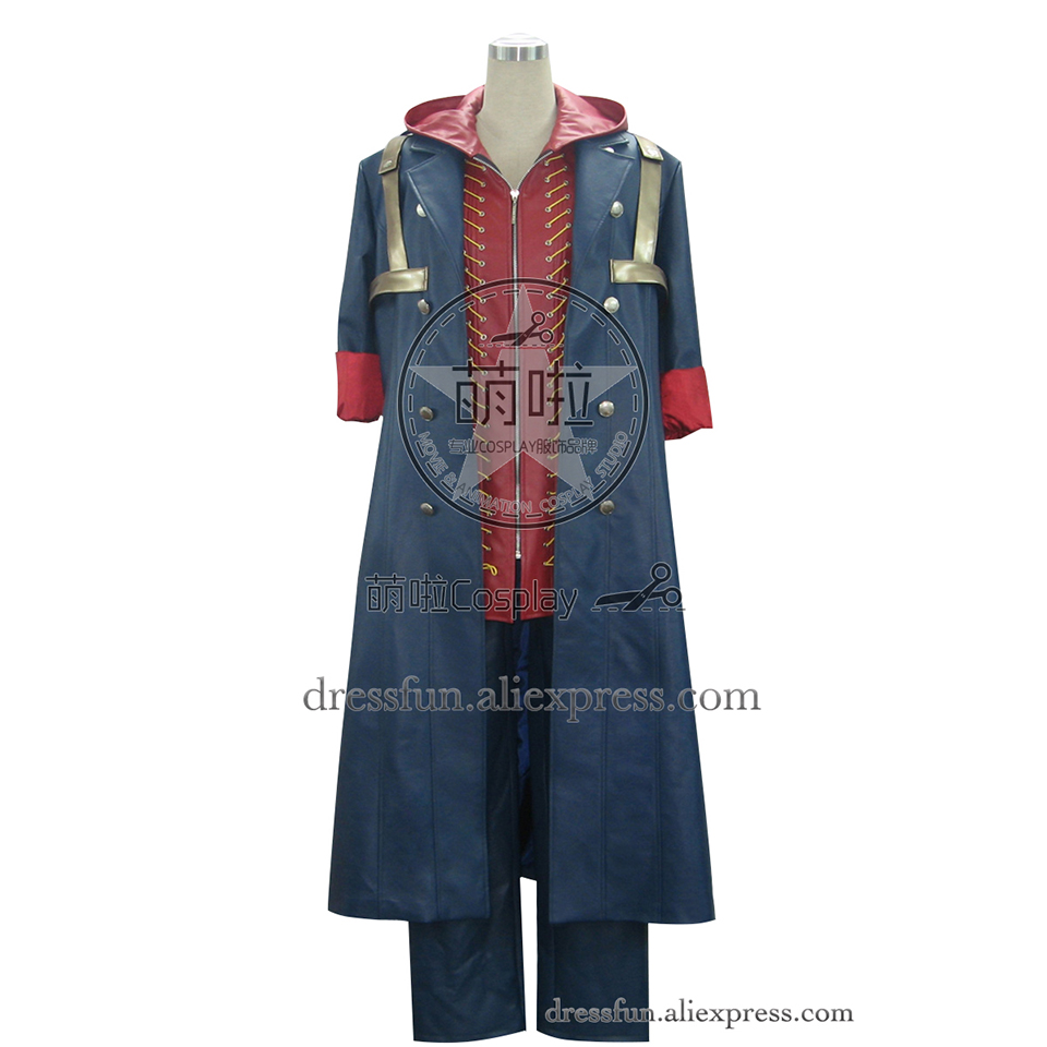 Devil May Cry 4 Cosplay Nero Costume Fashion Suit Outfits Halloween Fashion Party Fast Shipping Popular Uniform Jacket Coat