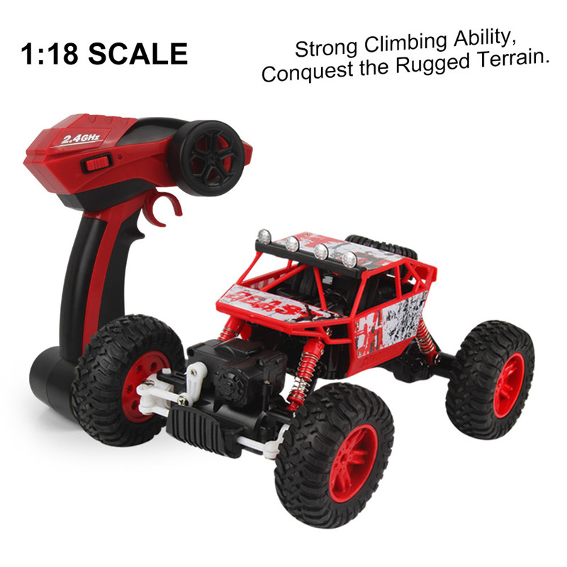 RC Car 1/18 2.4GHZ 4WD Radio Remote Control Off Road RC Car ATV Buggy Monster Truck Remote Control Climbing Vehicle Model Toy childred 1 32 detachable kids electric big rc container truck boy model car remote control radio truck toy with sound