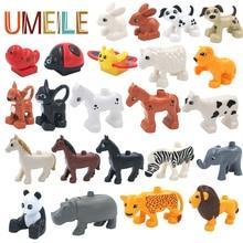UMEILE Duplo Original Classic Animal Zoo Big Building Blocks Educational Child Baby Toys Lion Pig DIY Set Brick Gift Brinquedos