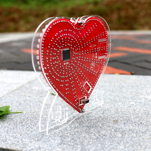 Image 5 - Zirrfa ใหม่สีเขียวรูปหัวใจ diy ชุดไฟ cubeed ของขวัญ, led อิเล็กทรอนิกส์ diy ชุด