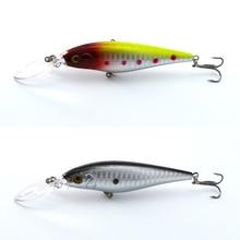 1piece Super Quality10 Colors 11cm 10.2g Isca Artificial Hard Bait Pesca Minnow Fishing lures wobbler crankbait 6# hook 3D eyes