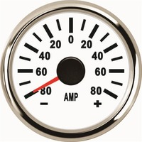 Pack of 1 52mm Pointer Type Ampere Meters Amp Gauges 9 32v Ammeters 0 80A Waterproof for Auto Boat with Shunt
