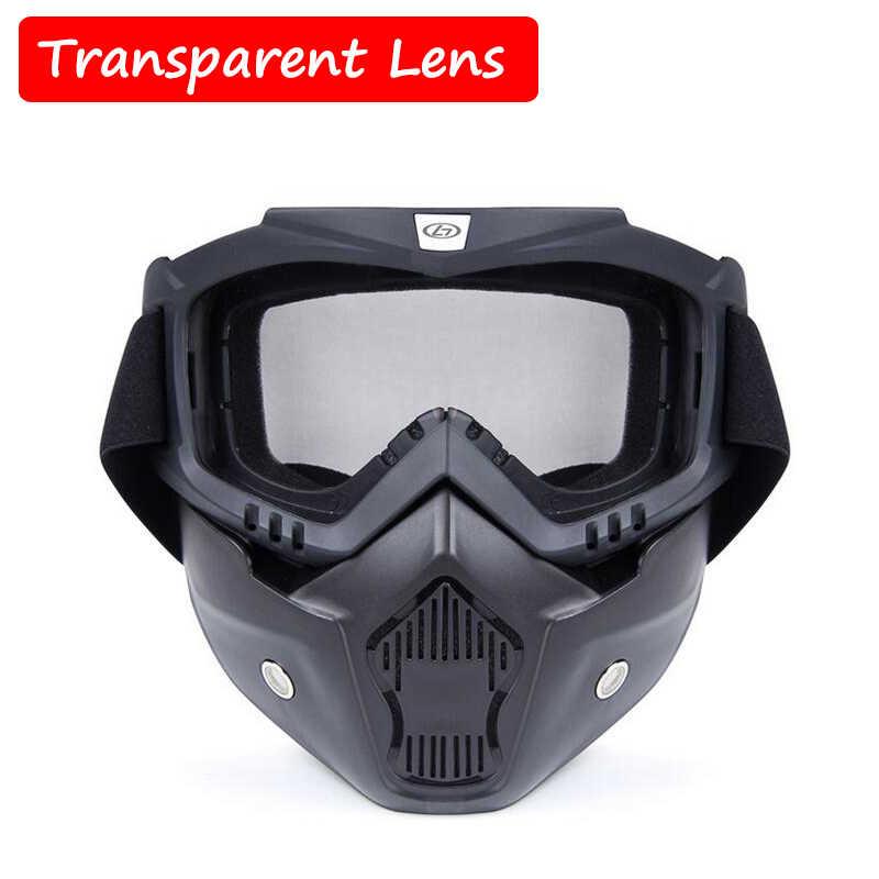خفيفة في الهواء الطلق CS لعبة التكتيكية المكس غوغل الادسنس الرياضة تنفس دراجة نارية يندبروف نظارات كامل الوجه أقنعة