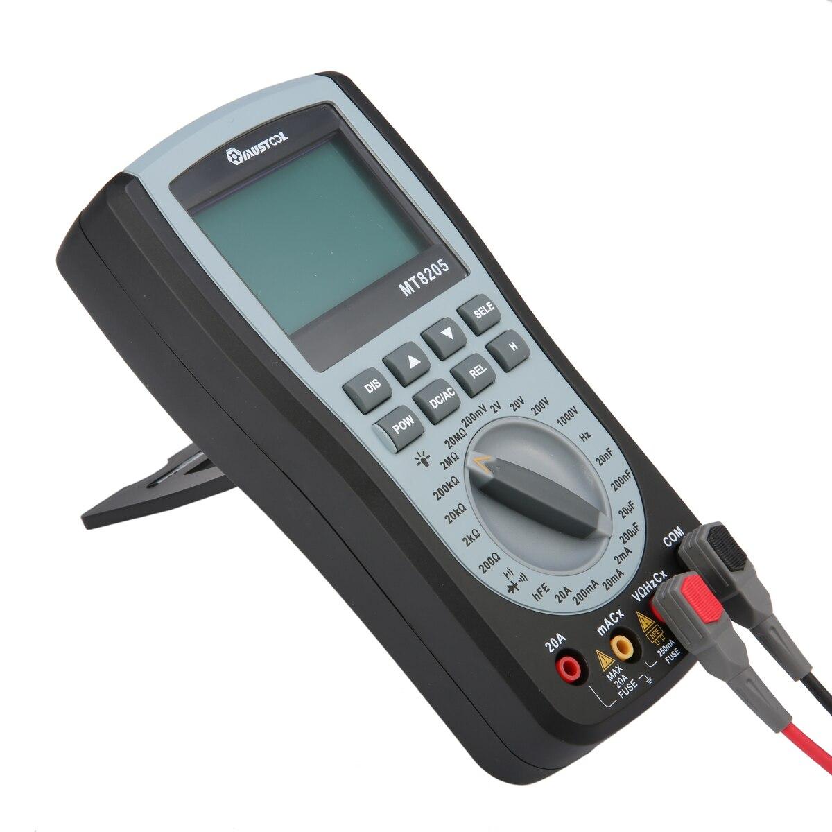 Mutabouret MT8205 2 en 1 numérique Intelligent portable stockage Oscilloscope multimètre courant tension résistance fréquence testeur - 3