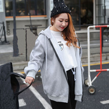 Women's Plus Size Cashmere Hoodie Coat Autumn and Winter Loose Hooded Coat with ZIPPER plus size asymmetrical hooded coat