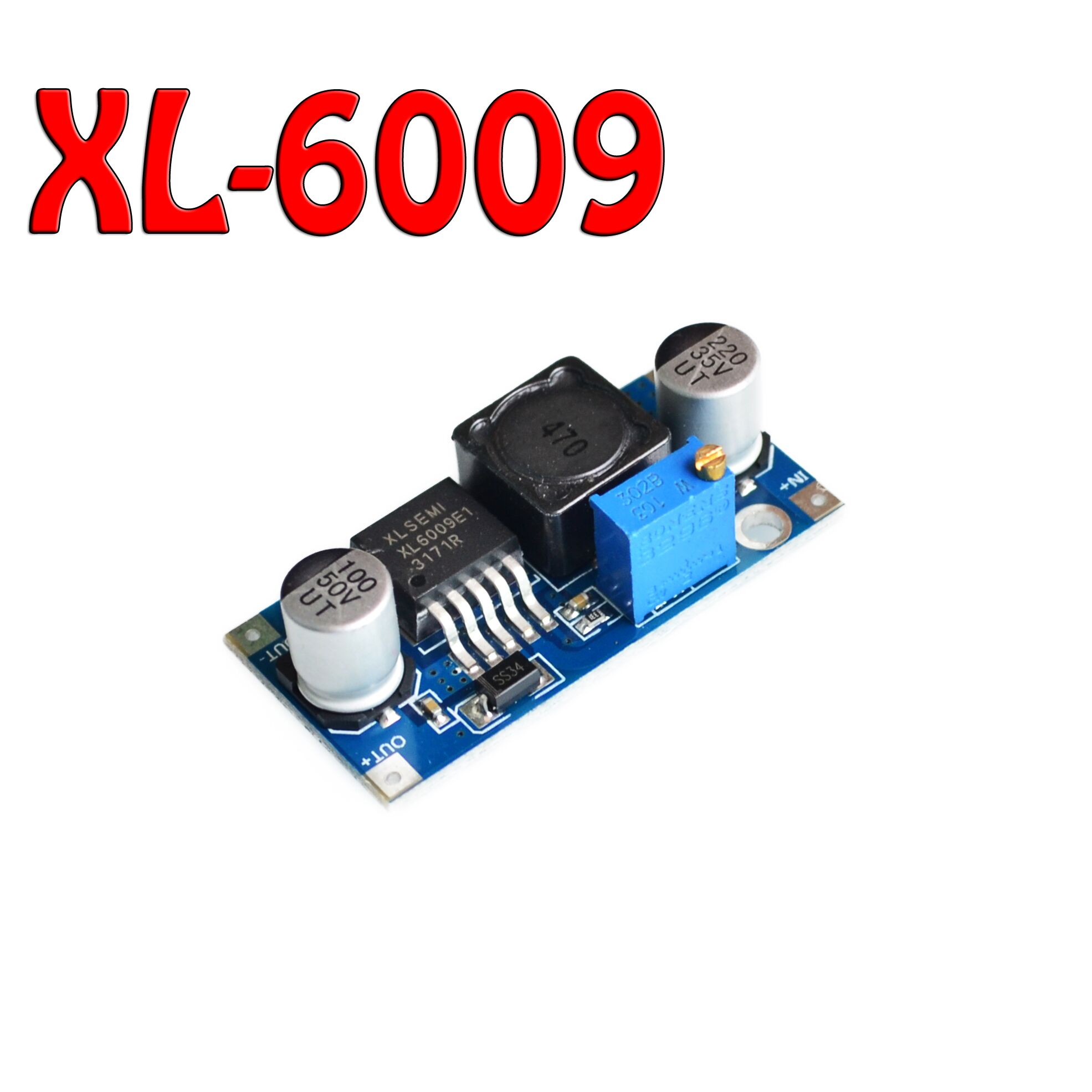 1pcs XL6009 DC-DC Booster module Power supply module output is adjustable Super LM2577 step-up module