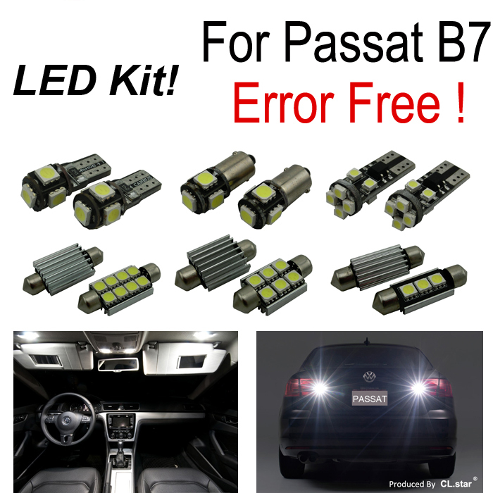 17pc X canbus error free for Volkswagen VW Passat B7 LED Interior Light reverse led light Kit  package (2012+) Sedan ONLY for volkswagen passat b6 b7 b8 led interior boot trunk luggage compartment light bulb