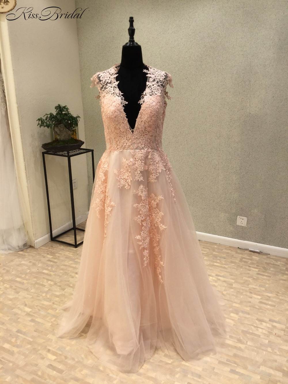 New Amazing Long   Prom     Dresses   2018 V-Neck Cap Sleeve A-Line Appliques Tulle Party   Dresses   Evening Gowns abiye gece elbisesi