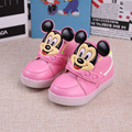 2017 novas crianças shoes meninos meninas esporte casual shoes crianças luz led luminosos shoes desenhos animados mickey calçado kids shoes