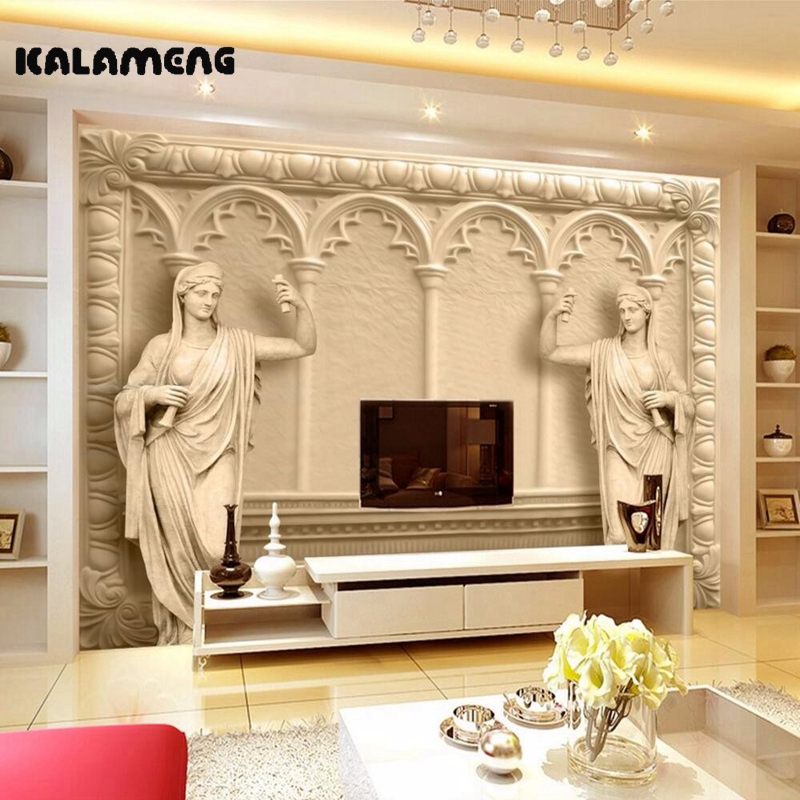 Aliexpress.com : Buy KALAMENG Custom 3D Wallpaper Design Sculpture ...