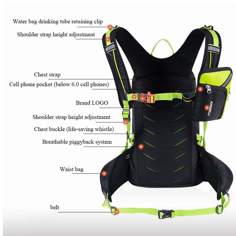 ANMEILU 20L deportes bolsa de Nylon resistente al agua Camping escalada bolsa Mochila de viaje al aire libre senderismo ciclismo Mochila cubierta de lluvia Mochila - 3