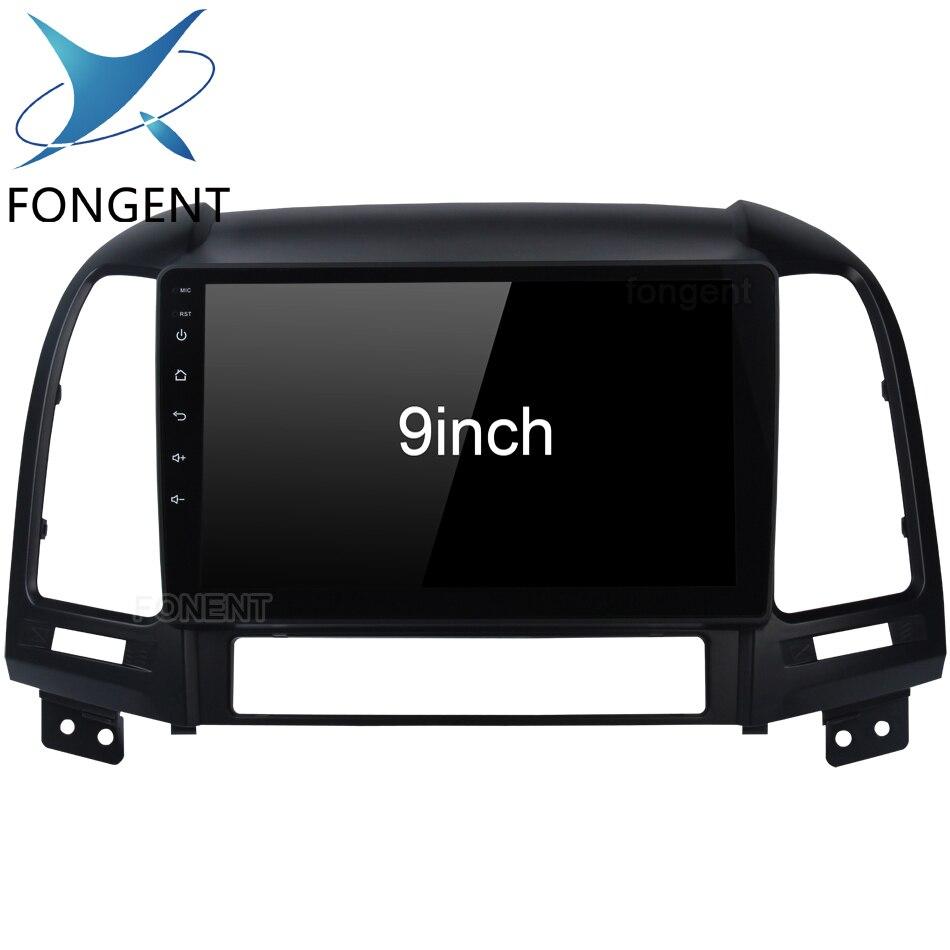 Para Hyundai Santa Fe 2006 2007 2008 2009 2010 2011 Unidade de Cabeça Android Music Video Player Multimídia Rádio Do Carro GPS mapa de navegação