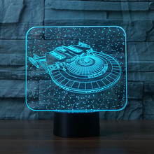 New Star Trek Led Night Light 3D Illusion 7 Colors Atmosphere Mood Emergency Desk Table Lamp for Kids Children Christmas Holiday