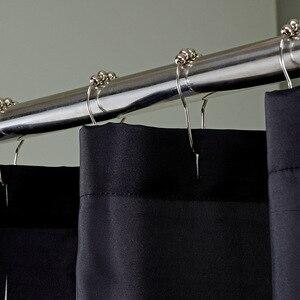 Image 3 - Modern Polyester duş perdeleri siyah beyaz çizgili baskılı su geçirmez kumaş banyo için çevre dostu ev otel kaynağı