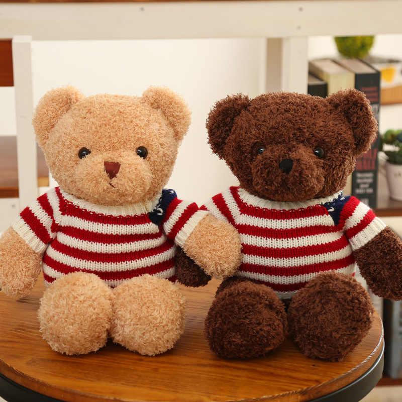 Casal Bonecas do Urso Bonito Grande Amor Amantes Ursos de Pelúcia Ursos de Pelúcia Macia Crianças Brinquedos Bichos de pelúcia Bonecas do Urso do Aniversário de Casamento presente