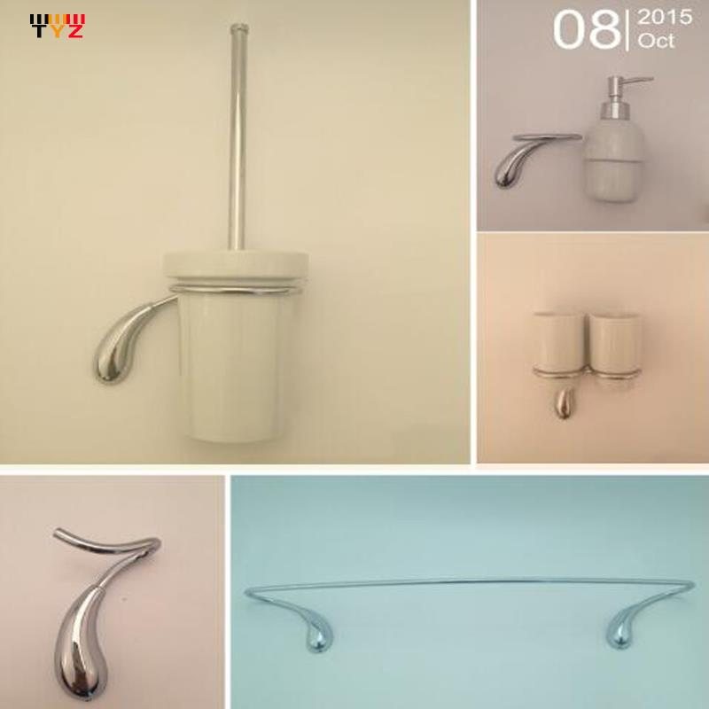 Online Get Cheap Brushed Chrome Bathroom Accessories Aliexpress