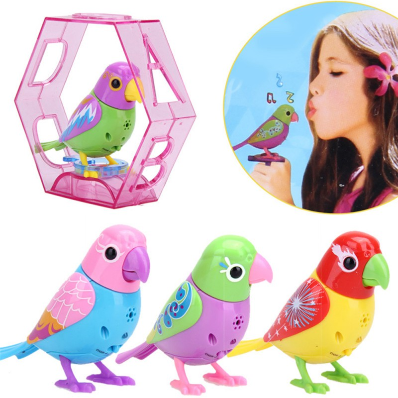 Random Color Music Bird for Kids Children Electric Toy Sing Solo intelligent Music Pets Bird Toys  j2