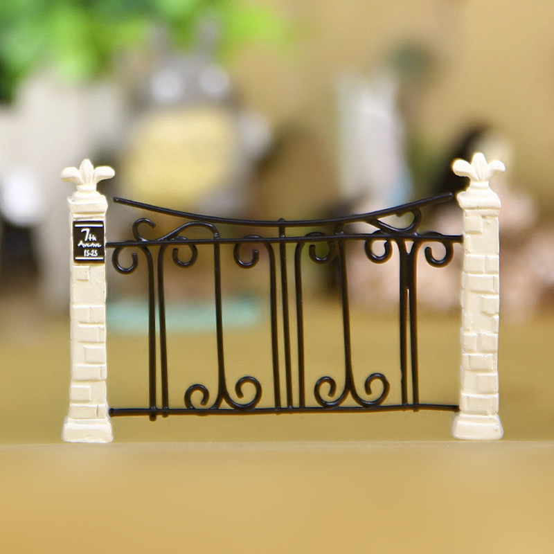 2 89 10 De Reduction Porte Cloture Miniature Fee Jardin Decoration Maisons Artisanat Micro Amenagement Paysager Decor Decoration De La Maison