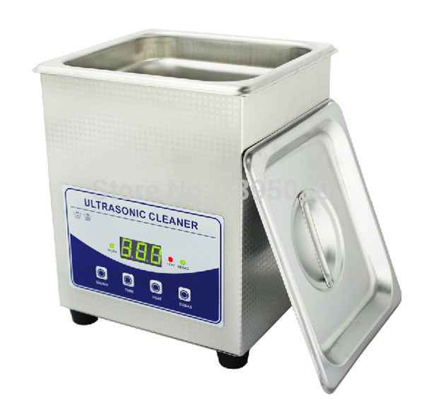 2L 220V digital household ultrasonic cleaner ( JP 010T ) for glass Jewely shaver PCB cleaning