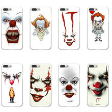 Stephen king's it White plastic Phone Case For iPhone X 6s SE Case Pennywise The Clown Horror For iPhone 8 7Plus Cover Capa(China)
