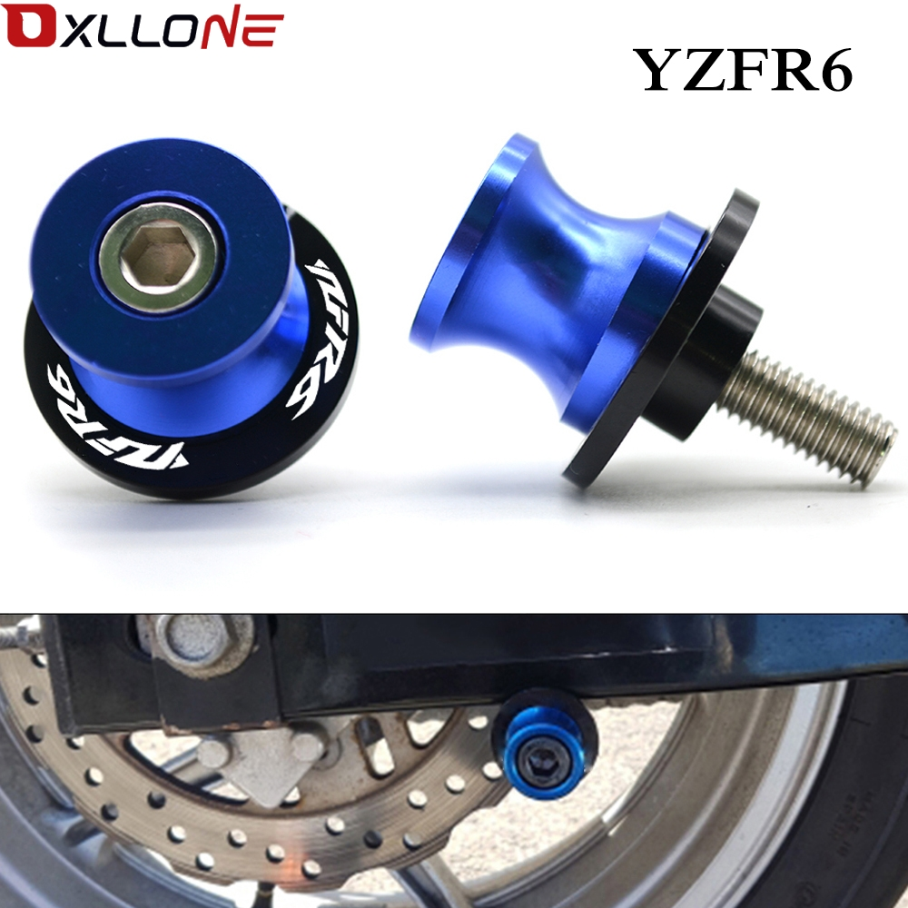 For Yamaha YZFR1 YZFR3 YZFR6 MT 03 MT 07 MT 09 R3 R6 6mm Motorcycle CNC Swingarm Sliders Spools Paddock Stand Bobbins Swing Arm-in Covers & Ornamental Mouldings from Automobiles & Motorcycles