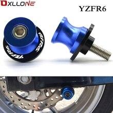 Para Yamaha YZFR1 YZFR3 YZFR6 MT 03 MT 07 MT 09 R3 R6 6mm de la motocicleta CNC basculante deslizadores carretes Paddock soporte bobinas de brazo de oscilación