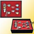 8pcs/set Anime Katekyo Hitman Reborn Rings Cosplay Vongola Revolving Fashion Jewelry Rings for Men women kids gift