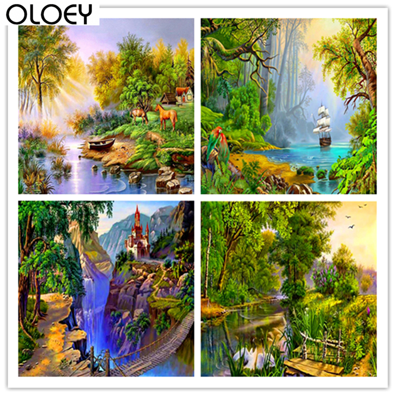 Full Square Drill Scenery landscape Diamond Painting Scenic 5D Embroidery Special Diamond Accessories Cross Stitch Wall Decor in Diamond Painting Cross Stitch from Home Garden