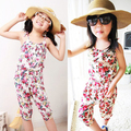 Nice Kids Baby Girl Jumpsuit Soft Clothing Summer Floral Pattern Sleeveless Clothes 2-6Y