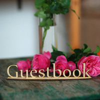 1pcs Wooden Laser Cut Guestbook Sign Guestbook Wood Stand Alone Guestbook Sign Wedding Bridal Shower Table