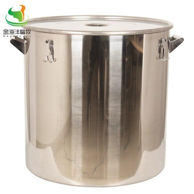 Barril recto de 170L con tapa, lata de leche, Cubo de leche de acero inoxidable, contenedor Liquild