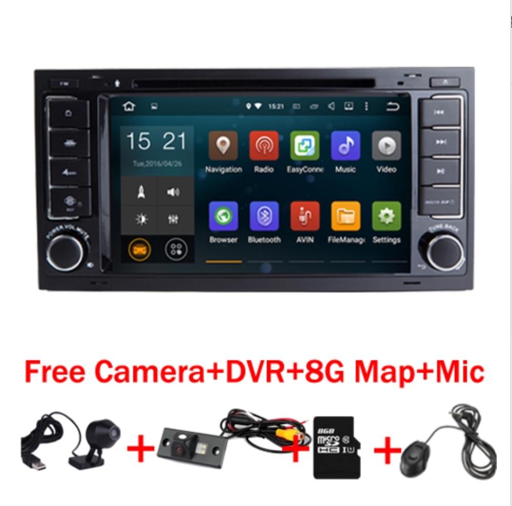 7 HD1024x600 Сенсорный экран Android 7.1 dvd-плеер автомобиля для VW Touareg Multivan С 3G Wi-Fi GPS Bluetooth Радио Bluetooth sd dvd