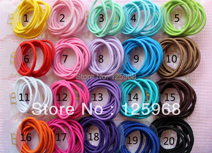 Free Shipping 2017 New 100pcs/lot Baby Girl Kids Tiny Hair Accessary Hair Bands Elastic Ties Ponytail Holder Children Rubber