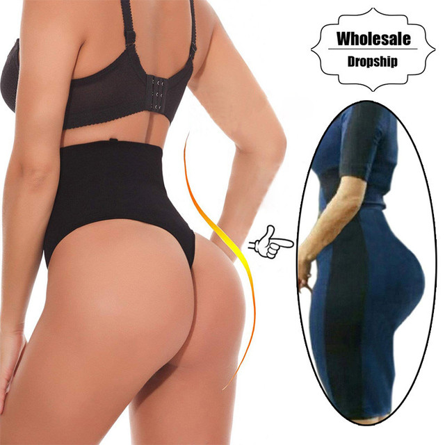 caedb7802a NINGMI Tummy Control Panties Women Sexy Butt Lifter Waist Trainer Body  Shaper Thong Wedding Dress Shapewear Brief Slimming Pants
