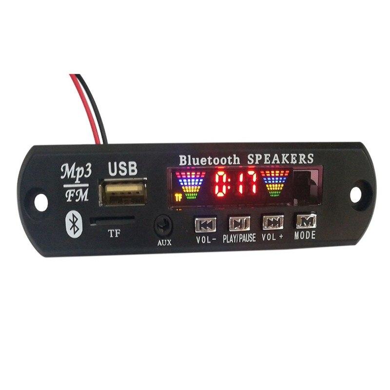 USB Bluetooth 5.0 Speaker LED Audio Module TF FM Radio Car Music MP3 Lossless Bluetooth Module Wireless MP3 WMA Decoder Board