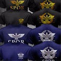 New SPQR Roman Rome Senate Military Faction Eagle Logo T Shirt Men Print Black O Neck Cotton T-shirt Army Short Sleeve Shirt Top