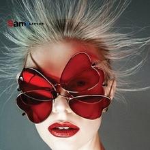 ff5c5cbdd9b56 Samjune Moda Amor Em Forma de Coração Óculos De Sol Das Mulheres Designer  De Marca Óculos