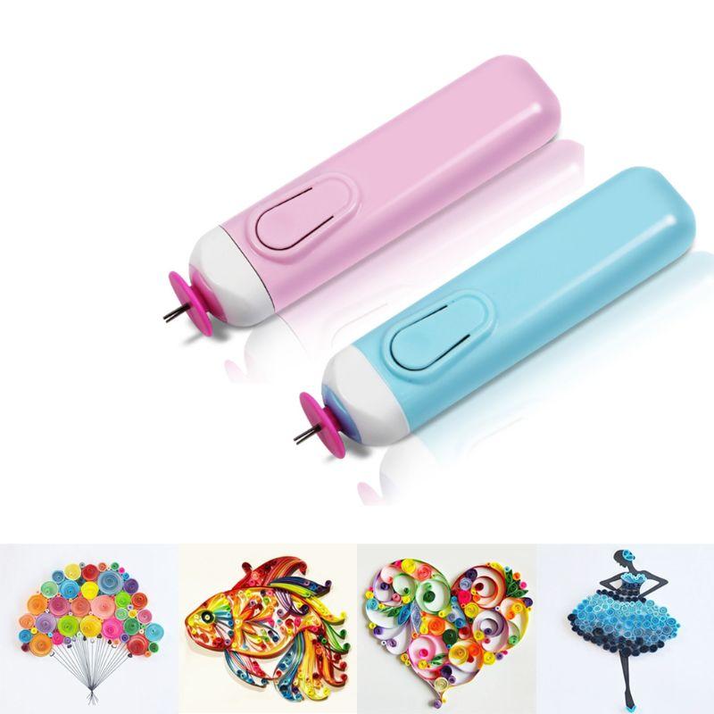Bolígrafos de papel enrollables eléctricos DIY, herramienta para rizar papel de Origami