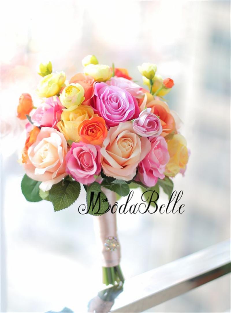 Modabelle 2018 Orange Yellow Bridal Bouquet Wedding Flower