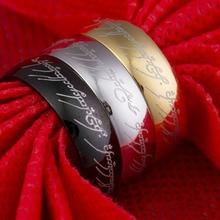 6MM Lord of the Prstenje Prstena od nehrđajućeg čelika Titanium Svjetlo Veleprodaja Nakit Prsten Around Series