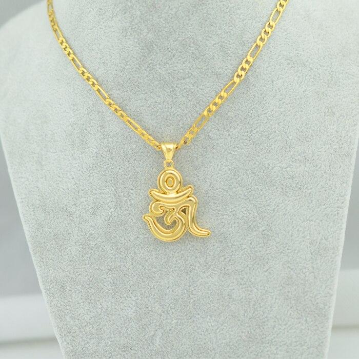 Anniyo Wholesale Yoga JewelryOm Necklace India SymbolMandala Art