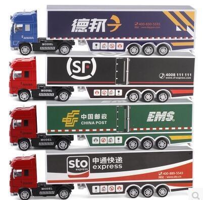 Nuevos niños vehículos de juguete del coche modelo de camión de transporte de Logística CCSME SF 1:50 sonido de aleación ligera puerta abierta regalo del muchacho envío libre de POSTE