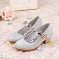 Meninas sapatos de Salto Alto Sapatos Para Crianças Princesa Sapatos Único Lantejoulas Estudantes Sapatas Do Partido Dos Miúdos Do Bebê Primavera/Outono Shoes