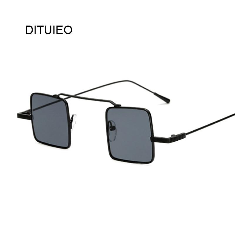 Gold Small Square Sun Glasses Gothic Steampunk Sunglasses Mens Womens Fashion Retro Vintage Shield Glasses Eyewear Blue