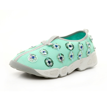 2016 summer kind of bead piece listed on the new star luxury fashion women shoes sport leisure dress manual bead flower shoes