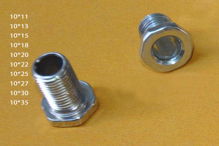 M10 Steel hollow nut female thread tube bolt , pitch ... on