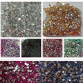 3g 2.0mm Flat Back Beads Nail Rhinestones Acrylic Nail Art Decoration for UV Gel Phone DIY Nail Glitters Gems Tools 10packs