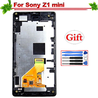 for Sony Xperia Z1 mini D5503 M51W LCD Display Touch Screen Digitizer Assembly Replacement for Sony Z1 Mini Lcd With Frame