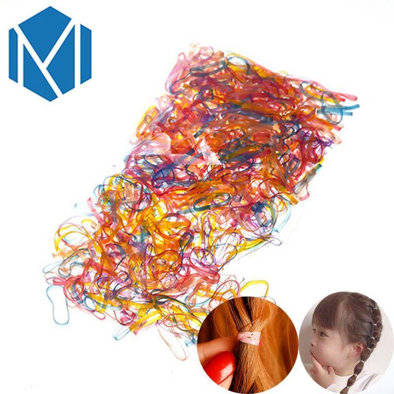 2000/600 шт./пакет ребенок волос веревку ТПУ одноразовые резинки ленты для волос девушки конский хвост держатель резинки аксессуары для волос